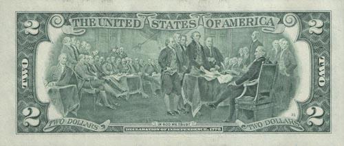 Купюра 2 доллара сша цена 1884